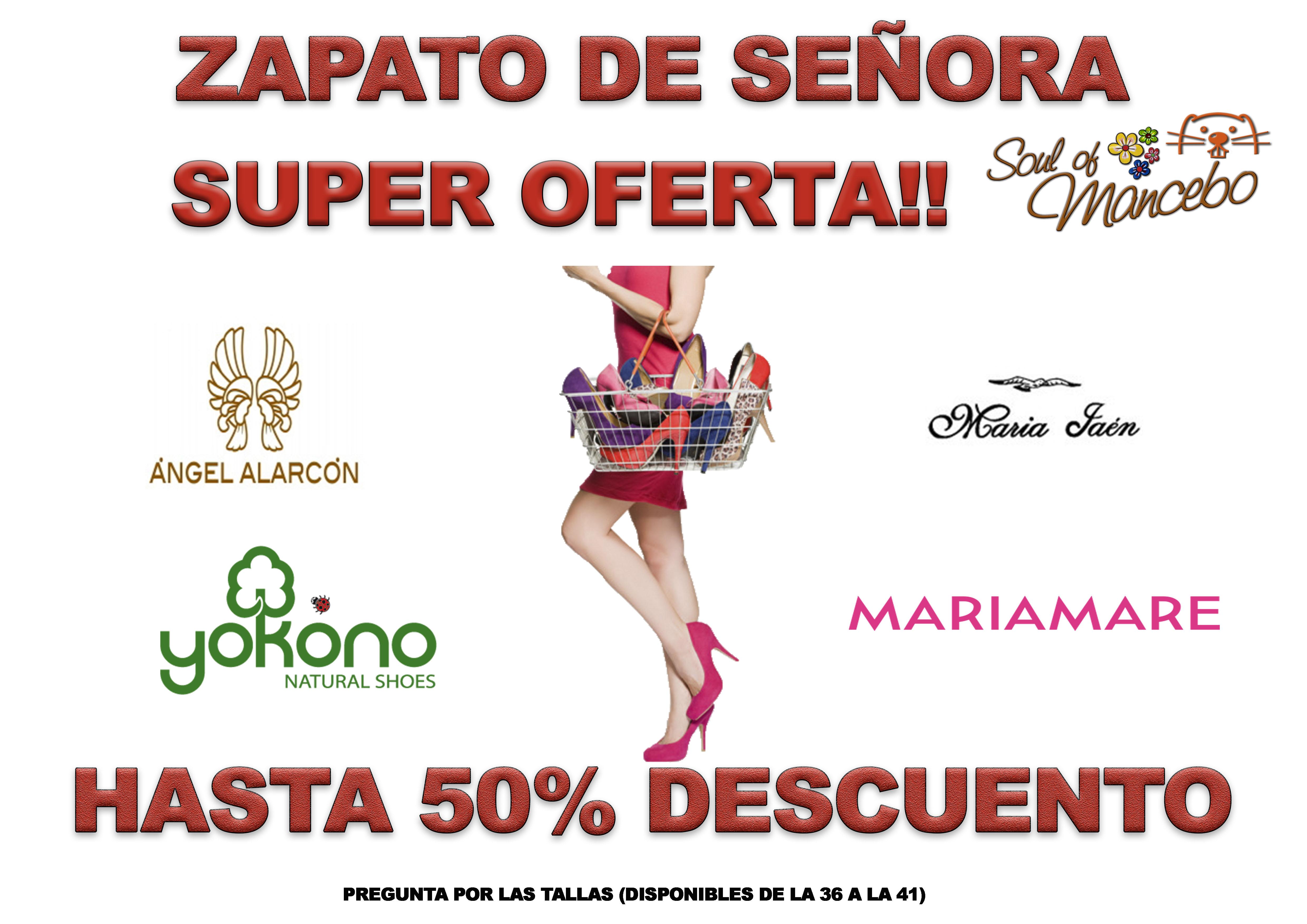 ¡¡¡¡SUPER OFERTAS EN ZAPATOS DE SEÑORA!!!!! Ven a visitarnos y descubre las ofertas que hemos preparado para ti!!! Salones de MARIAMARE, ÁNGEL ALARCON, MARÍA JAEN y muchos más!!! Con hasta un 50% de Descuento!!  ¡¡¡Ven y disfruta comprando!!!