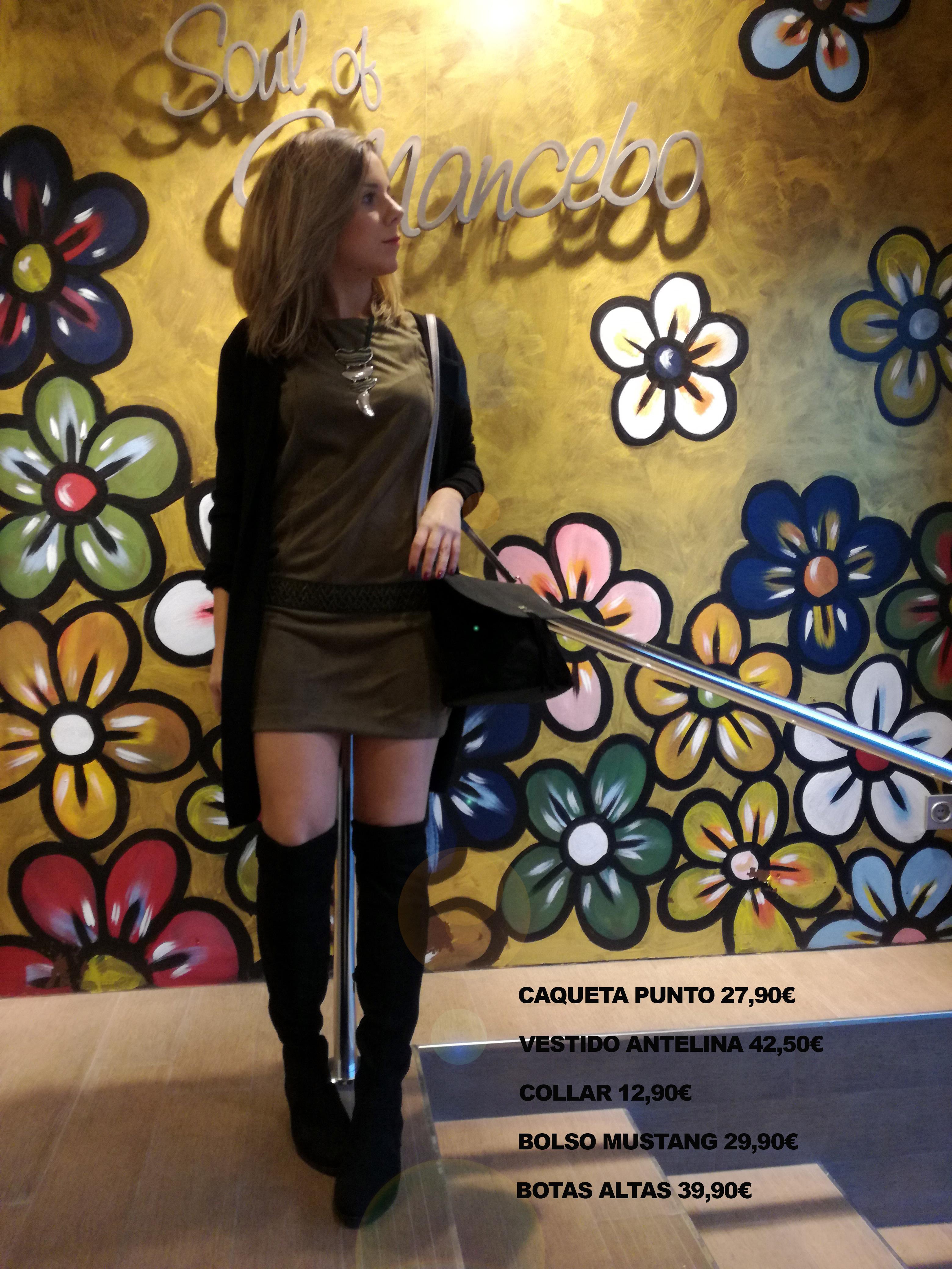 El look de hoy! Un vestido de moda con unas botas altas que hacen de este look un estilo impresionante! Esperamos que os guste! Ven a vernos y disfruta comprando!!!