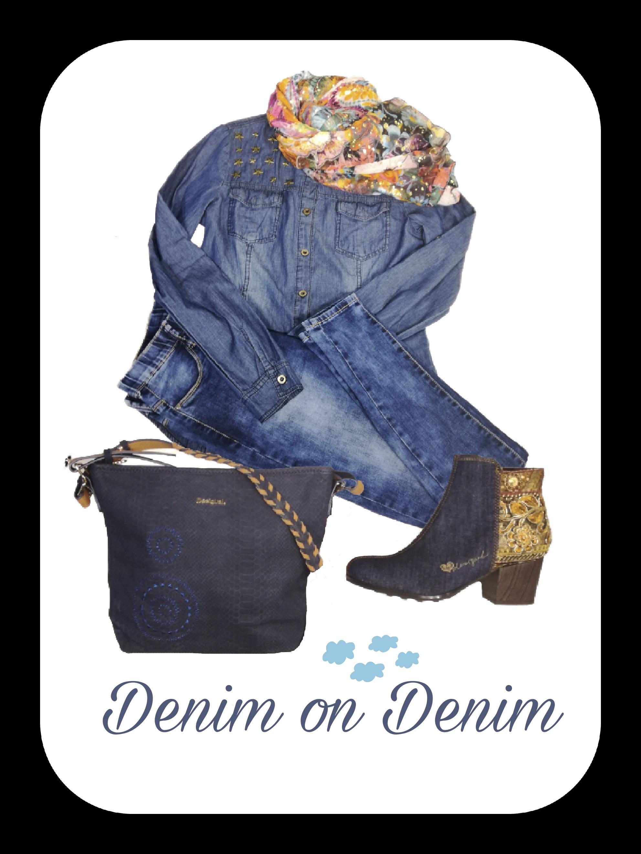 La segunda tendencia que hemos escogido para hoy es la denominada Denim on Denim y se trata de llevar dos prendas vaqueras en el mismo look. Aquí os dejamos nuestra propuesta!!!! 😀😀💃💃